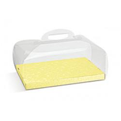 Scatola Portacolomba Trasparente con fondo giallo 750gr