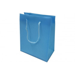 Wedding bag shopper in PVC Celeste 14x11cm