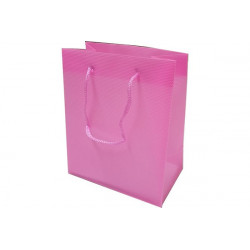 Wedding bag shopper in PVC Rosa 14x11cm