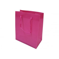 Wedding bag shopper in PVC Fucsia 14x11cm