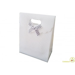 Wedding bag shopper in PVC Bianco 15x12cm