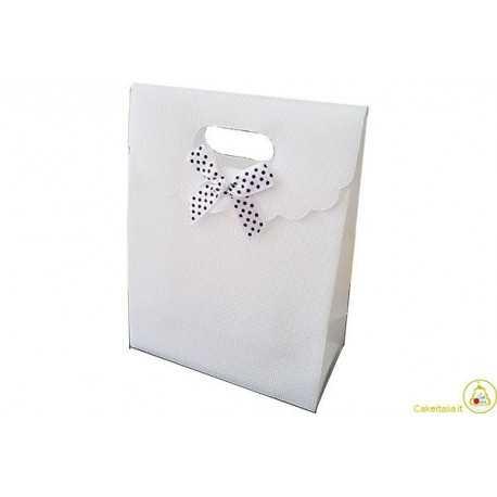 Wedding bag shopper in PVC Bianco 15x12cm