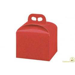 Scatola Portapanettone Alto Pelle Rossa