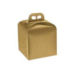 Scatola Portapanettone Alto Sfere Oro