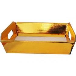Cesto in cartoncino Oro metallizzato 30x22x10cm