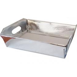 Cesto in cartoncino Argento metallizzato 30x22x10cm