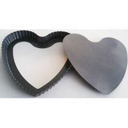 Teglia cuore con fondo removibile 26 x 25