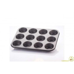 Stampo antiaderente forma 12 Muffin o Cupcake cm 35 x 26
