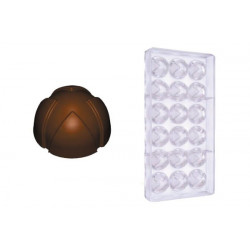 Stampo cioccolato forma bocciolo cuneese 12gr in policarbonato
