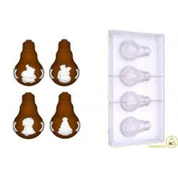 Stampo cioccolato lampadine natalizie