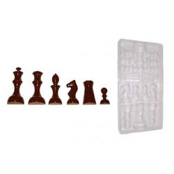 Stampo cioccolato forma set scacchi 50 gr in policarbonato