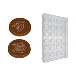 Stampo cioccolato cialda tonda con cabosse