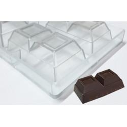 Stampo Blocchetto Cioccolato 2 Quadri 200g