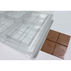 Stampo Tavoletta cioccolato quadrata 7 cm 35 g con Cabossa Satinata