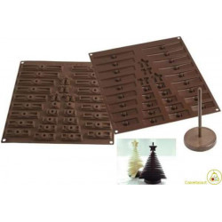 Stampo cioccolato Albero di Natale 3D o 3D Tree Choc