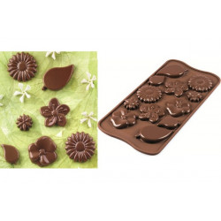 Stampo cioccolatini tema floreale Choco Garden