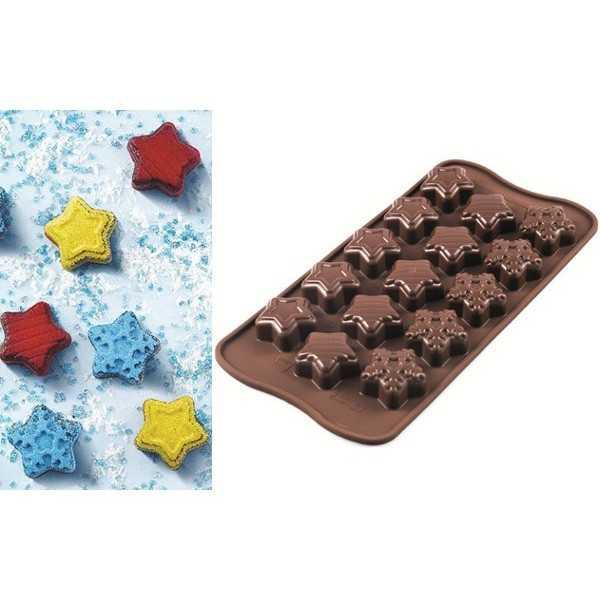 Stampo cioccolatini Stelle invernali o natalizie o Choco Winter Star