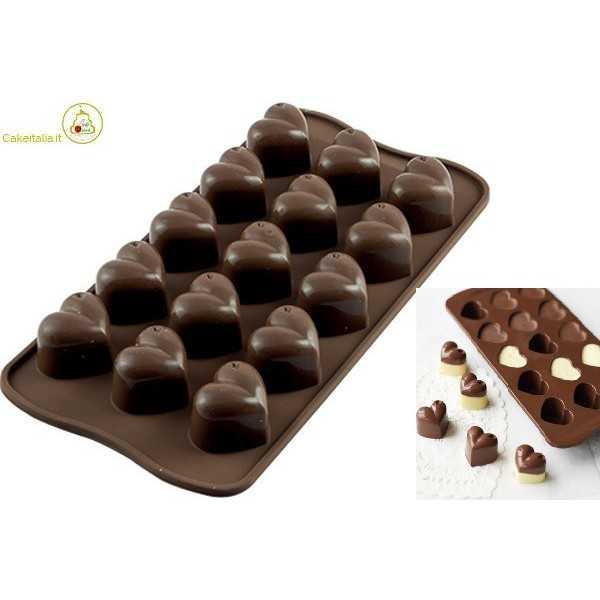 Stampo Cioccolatini Cuoricini Mon Amour