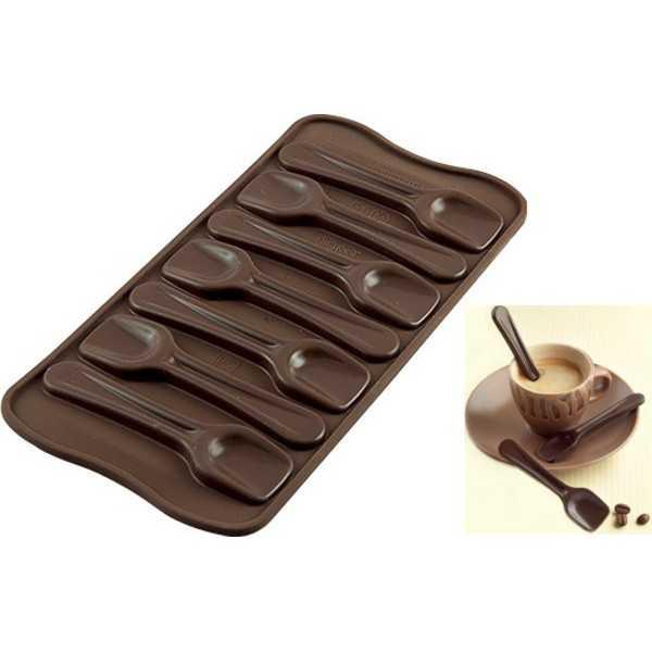 Stampo Cioccolato Cucchiaini Caffè o Choco Spoon