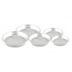 Set 5 pezzi tortiera per pastiera in alluminio varie misure