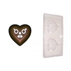 Stampo cioccolato forma cuore lui e lei 40 gr in policarbonato