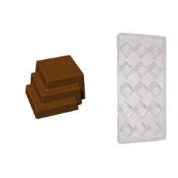 Stampo cioccolato forma tris di quadri 12gr in policarbonato