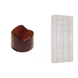 Stampo cioccolato forma tondo con onda 10 gr in policarbonato