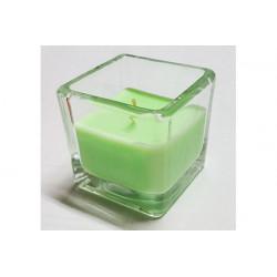 Candela tealight profumata in vasetto di vetro colore Verde