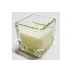 Candela tealight  profumata in vasetto di vetro colore Bianco