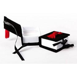 Libro Laurea Portaconfetti colore Nero