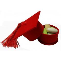 Cappello Laurea Portaconfetti Rosso