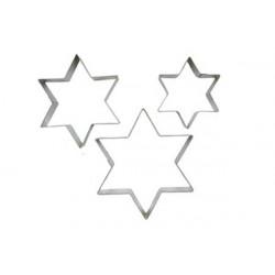 Set 3 Tagliapasta stella in acciaio inox