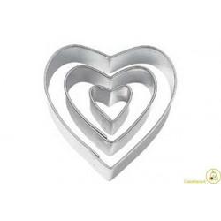 Set 3 Cutter tagliapasta cuore
