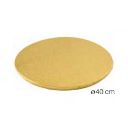Vassoio sottotorta Tondo dorato 40cm