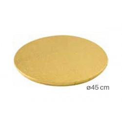 Vassoio sottotorta Tondo dorato 45cm