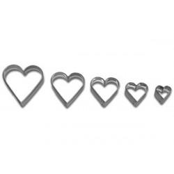 Set 5 Cutter tagliapasta cuore
