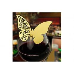 Farfalla segnaposto in cartoncino perlato pz 50 oro