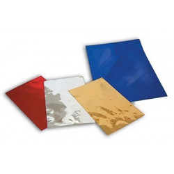 Busta regalo metallizzata cm 22x30 Blu pz 5