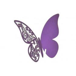 Farfalla segnaposto in cartoncino perlato pz 50 lilla