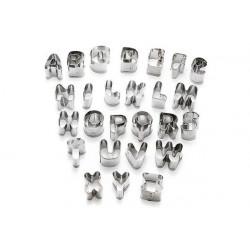 Set stampi per dolci tema alfabeto cm 3