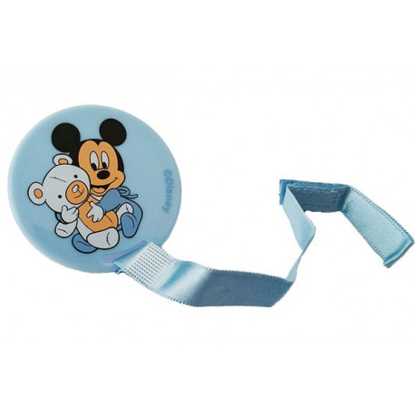Clip Portaciuccio Topolino Disney Celeste