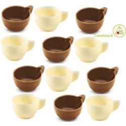 Tazzine Caffè di Cioccolato a Latte e Cioccolato Bianco