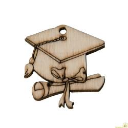 Applicazione in legno Tocco Laurea pz 12