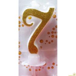 Candela Glitter Oro cm 7 n° 7