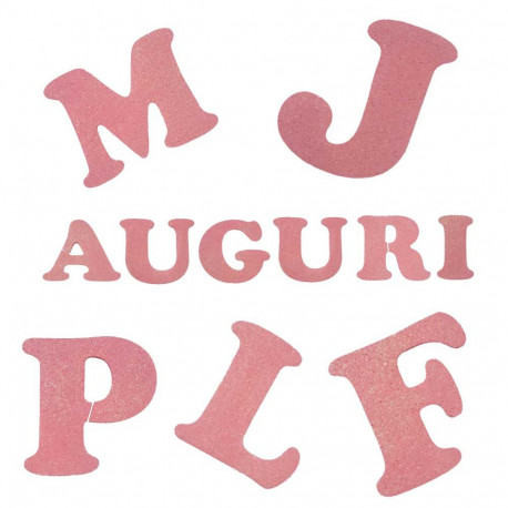 Lettere in Polistirolo Rosa cm 11