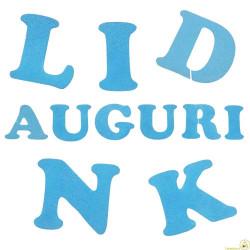 Lettere in Polistirolo Azzurro cm 11