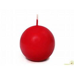 Candela a sfera cm 8 colore rosso