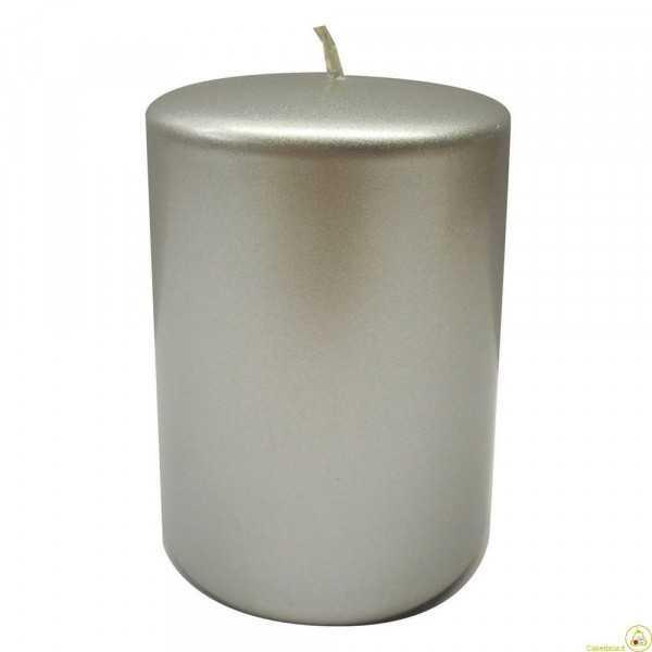 Candela a colonna cm 6 colore argento