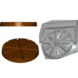 Stampo cioccolato Tortina a spicchi 10 cm 100 g in policarbonato