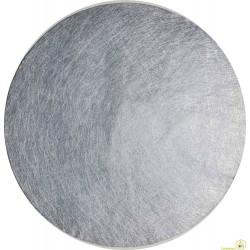 Tovaglietta natalizia argento tonda pz 6